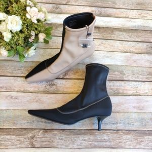Zara Two Tone Sock Booties/Heels